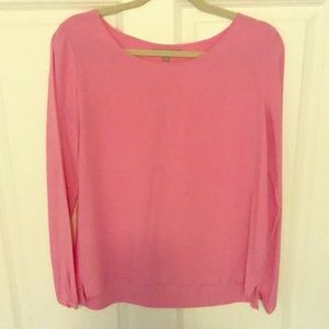 Uniqlo bubble gum pink blouse
